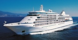 The spiffed up Silve Shadow compliments of Silversea Cruises