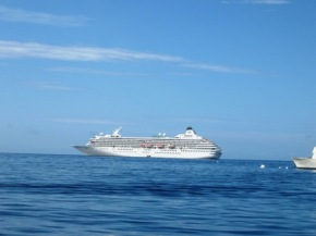 The Crystal Symphony off La Haina, Maui