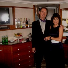 Patti and Teo our butler for 10 glorious days