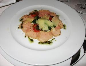 More food--veal carpaccio