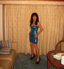 Me in blue dress